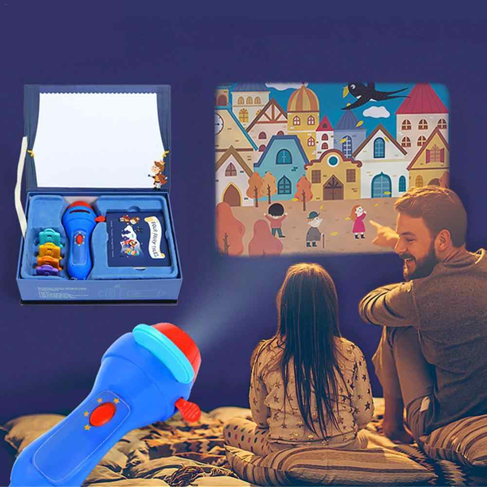 Мини-анимационный проектор развивающие светящиеся игрушки театр сказка проектор светящаяся Игрушка Дети спящие истории для детей подарок