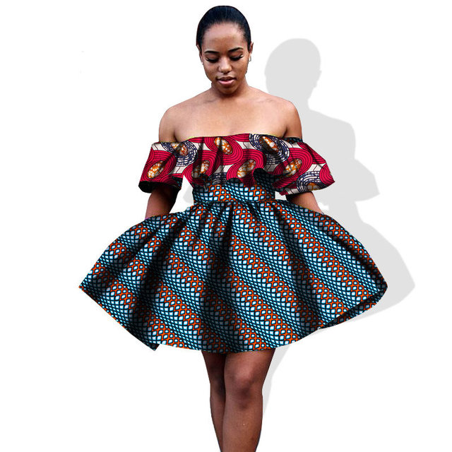 2019 African Clothing for Womans Mini Puff Sleeve African Dresses ...