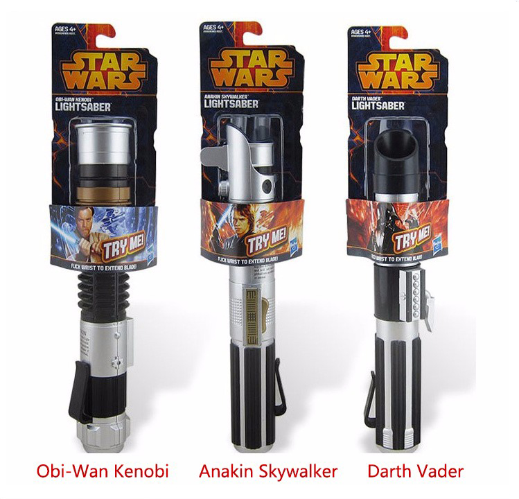Telescopic Star Wars Lightsaber Darth Vader Anakin Obi-Wan Sword Light saber Action Figure Toys No Light Children's Day Gift star wars weapon telescopic lightsaber led light saber action figure toys cosplay kids gift