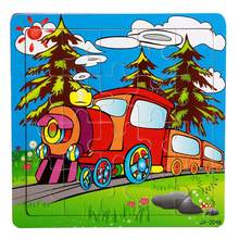 model Wooden Puzzle Educational Developmental Baby Kids Training Toy toys for children(China)