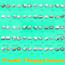 30 モデル 300 ピース/ロット女性マイクロ USB コネクタソケット充電ポートサムスンレノボ華為 zte ソニー meizu など携帯電話