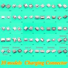 30 mô hình 300 cái/lốc Nữ Micro USB Nối Ổ Cắm Sạc Cảng đối với Samsung Lenovo Huawei zte Sony meizu vv điện thoại di động điện thoại