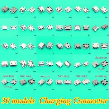 цена на 30Models 300pcs/lot Female Micro USB Connector Socket Charging Port for Samsung Lenovo Huawei zte Sony meizu etc mobile phone