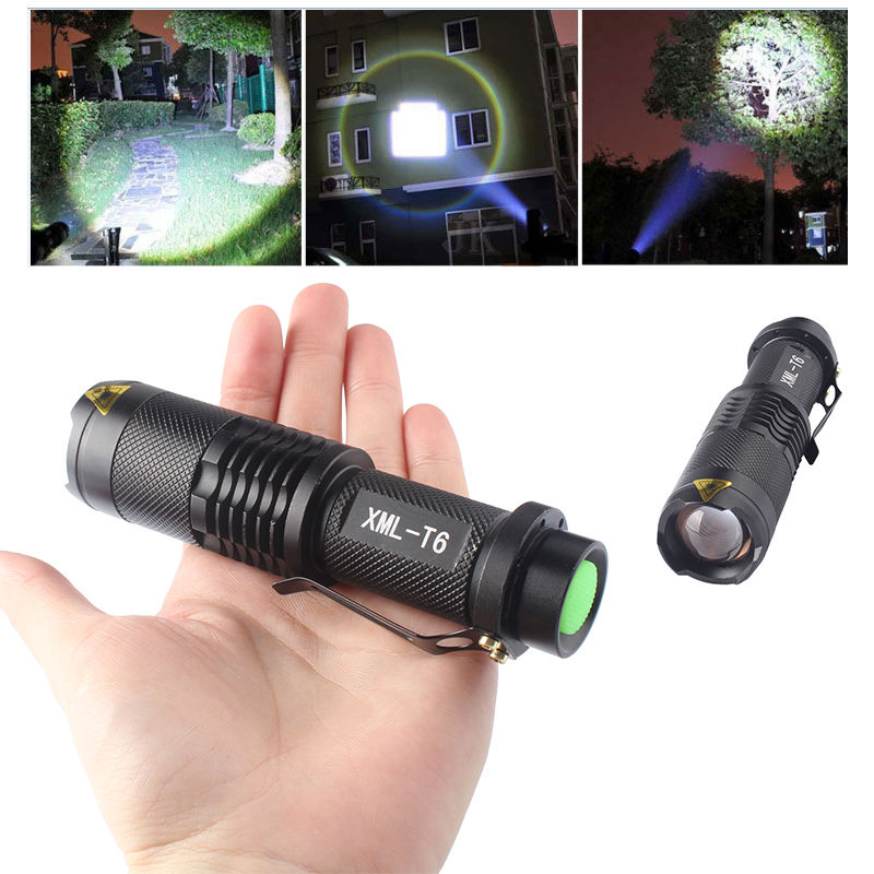 Mini Powerful LED Flashlight Torch Zoom XML T6 18650 Small LED Torch Rechargeable Waterproof Zoomable Camping Flashlight Lantern