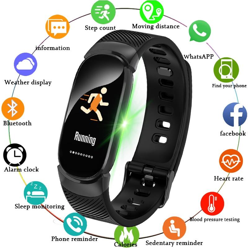 BANGWEI Hommes Sport Montre Smart Watch Femmes LED Étanche SmartWatch de Fréquence Cardiaque Sang Pression Podomètre Montre Horloge Pour Android iOS