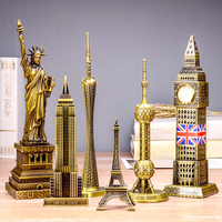 world famous Eiffel Tower landmark building metal model of Big Ben birthday gift ornaments home decoration accessories statue
