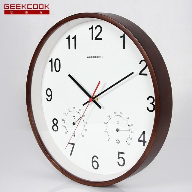 Eenvoudige Ontwerp 12 inch Bamboe Wandklok Klokken Horloge Saat ...
