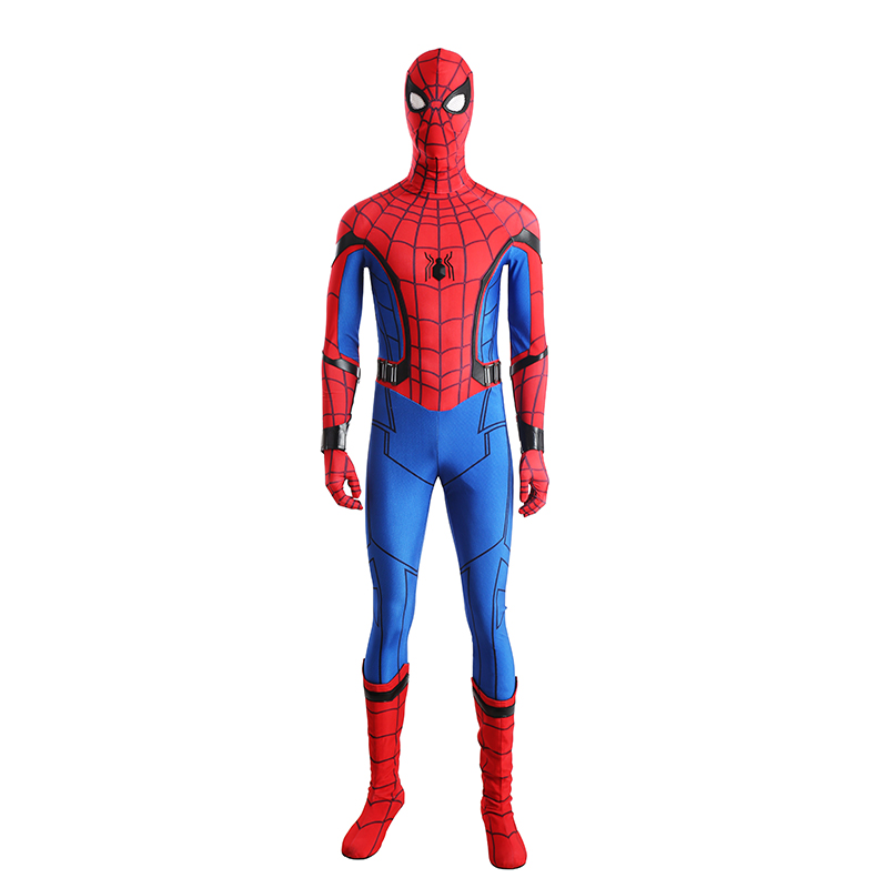 Spider Man Cosplay Costume Peter Benjamin Parker Spider-Man Homecoming Cosplay Outfit Halloween Superhero Spiderman Costume