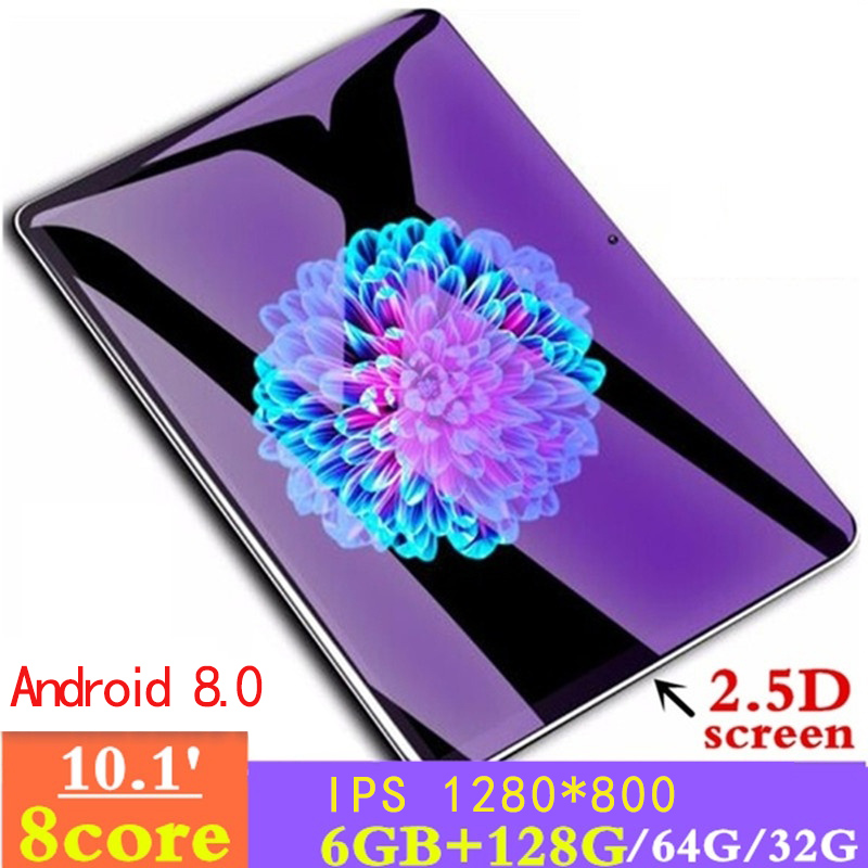 10.1 Inch  2.5D Screen Android 8.0 3G Network  WiFi Tablet PC Dual SIM  Call Phone Tablet Gifts(6G+128G/64G/32G) Tablet Gifts