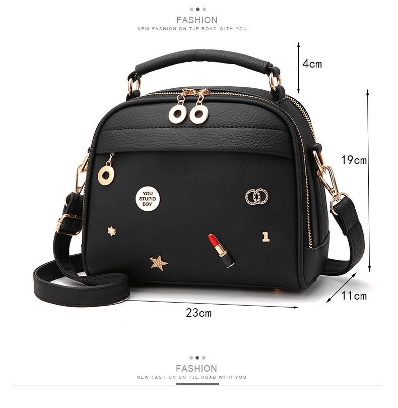 Curved Top Double Zip Grab Bag 6