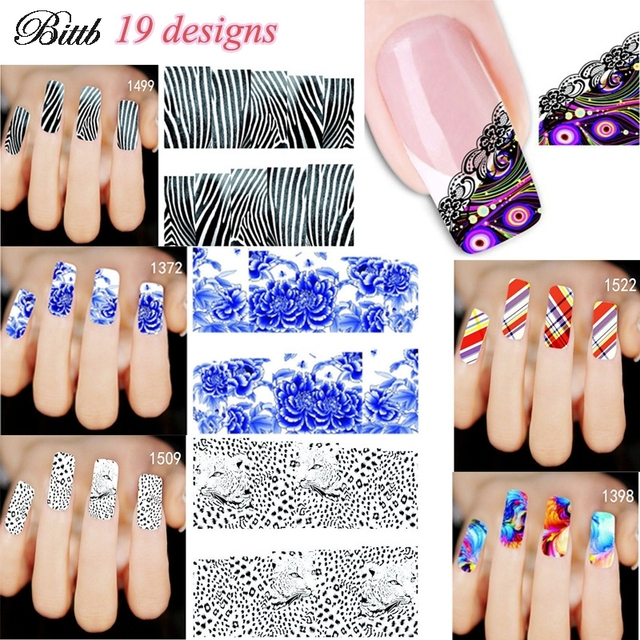 Bittb 1pcs Sexy Leopard Nail Art Decal Sticker Water Transfer Diy