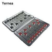 Yernea New Magnetic Chinese Chess Set Foldable Board Games Portable Chess Board Game 29*23 CM Magnetic Entertainment Gift