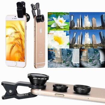 Pack de trois objectifs pour smartphone avec clip universel 1