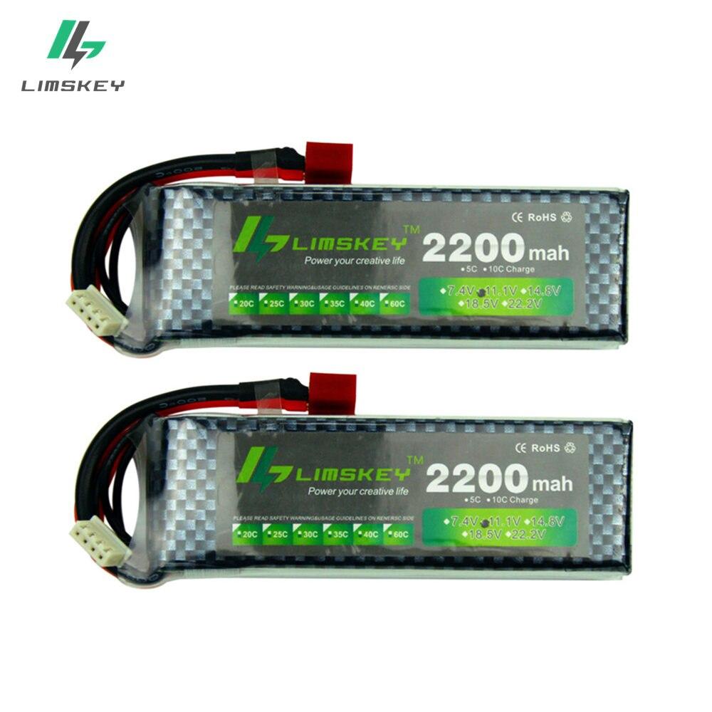 Limskey Power nuevo 2200 11,1 mAh MAX 35C batería T/xt60 enchufe para coche avión Parte V 2 s unids/lote 3 s lipo batería 11,1 V batería