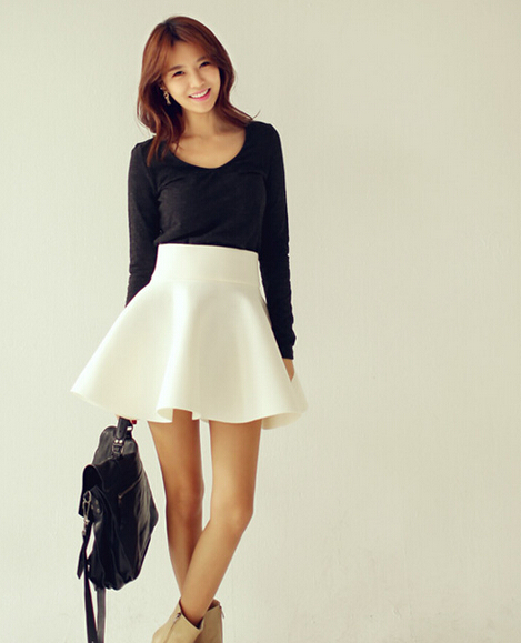 Online Shop New 2014 women winter high waist skirt pleated space ...