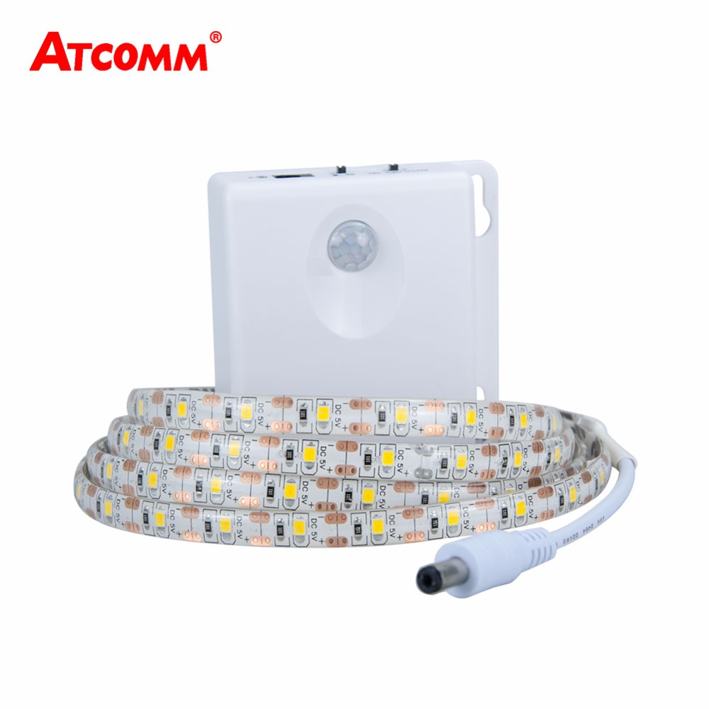 2835 RGB LED Motion Sensor Strip Light IP65 Waterproof Timing Function Use 3*AA Battery Induction Diode Ribbon Tape Light2835 RGB LED Motion Sensor Strip Light IP65 Waterproof Timing Function Use 3*AA Battery Induction Diode Ribbon Tape Light