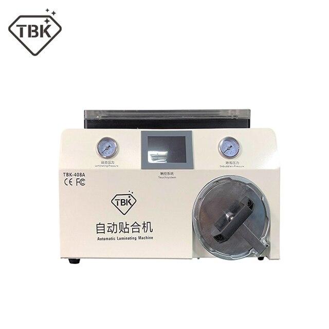 Nouvelle version TBK-408A 15 pouce Mobile Téléphone LCD Plastifieuse Machine avec Couvercle Transparent et Autoclave Bubble Remover