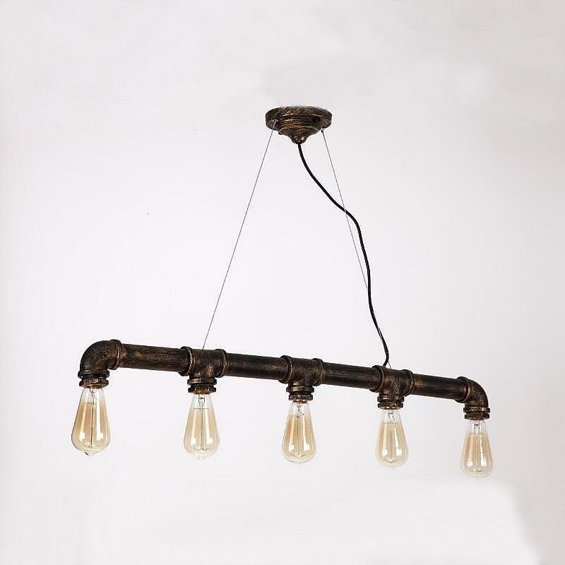 ФОТО Loft Vintage Edison Pendant Lights Personalized Bar Lighting Industrial Vintage Water Pipe Pendant Lamp E27 Black/Antique Lamps