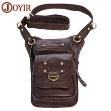 JOYIR Brand Designer Leather Men Messenger Bags Vintage Mini Crossbody Bag Genuine Leather Men Bag Male Shoulder Phone Bag