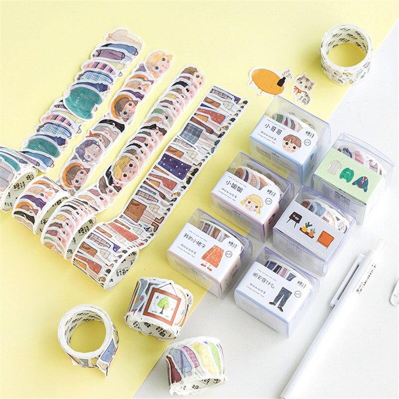 Kawaii Cartoon Character Cats Washi Tape Cute Paper DIY Scrapbooking Decorative Stickers Office School Stationery Supplies 02539