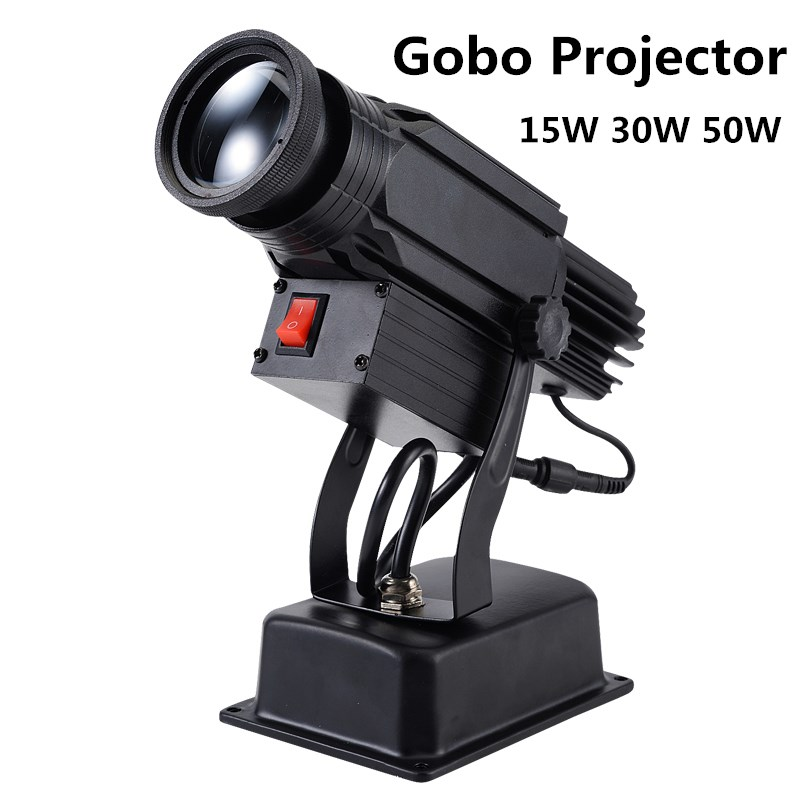Logo Projector 15W 30W 50W Mini Light Custom Made Logo Lens Retail Shop Indicate Sign Instruct Notice Gobo Lens Party Disco Ktv