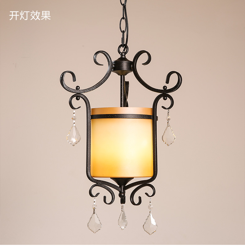American Rural Style Pendant Lamp Wrought Iron Vintage Light fixtures Bar Creative Art Deco Lighting Personality Pendant Lights