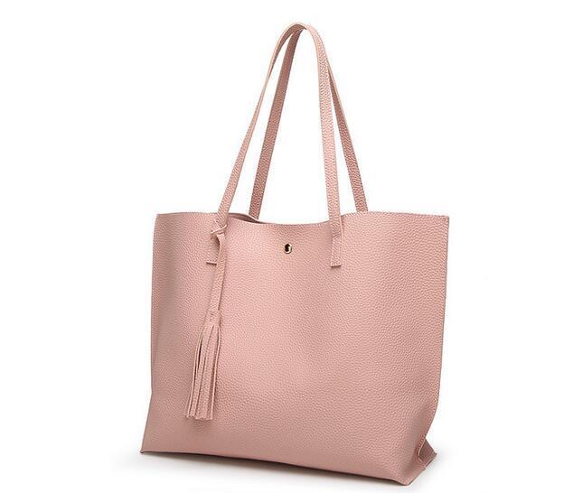2016 bolsa Das Mulheres PU Mulheres mensageiro sacos Crossbody Mulheres de Couro Grandes mulheres de capacidade bolsa de Ombro bolsa Senhoras Saco de Borla