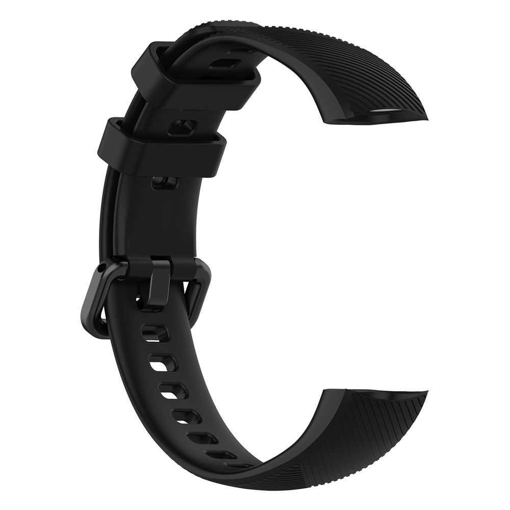 กีฬาซิลิโคนสายนาฬิกาสำหรับHonor Band 4 5อุปกรณ์เสริมสายรัดข้อมือสายคล้องคอสำหรับHuawei Honor Band 5 4สมาร์ทสร้อยข้อมือ