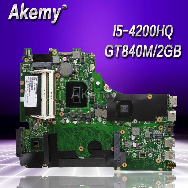 Akemy X750JN GT840M/2 ГБ I5 4200HQ материнская плата для ASUS X750J k750J A750J X750JN ноутбук материнская плата