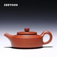 220cc Authentic Chinese Purple Clay Yixing Teapot Kung Fu Tea Set Handmade Ceramic Zisha Red Pottery Qingshui Mud Zhou Pan Pot