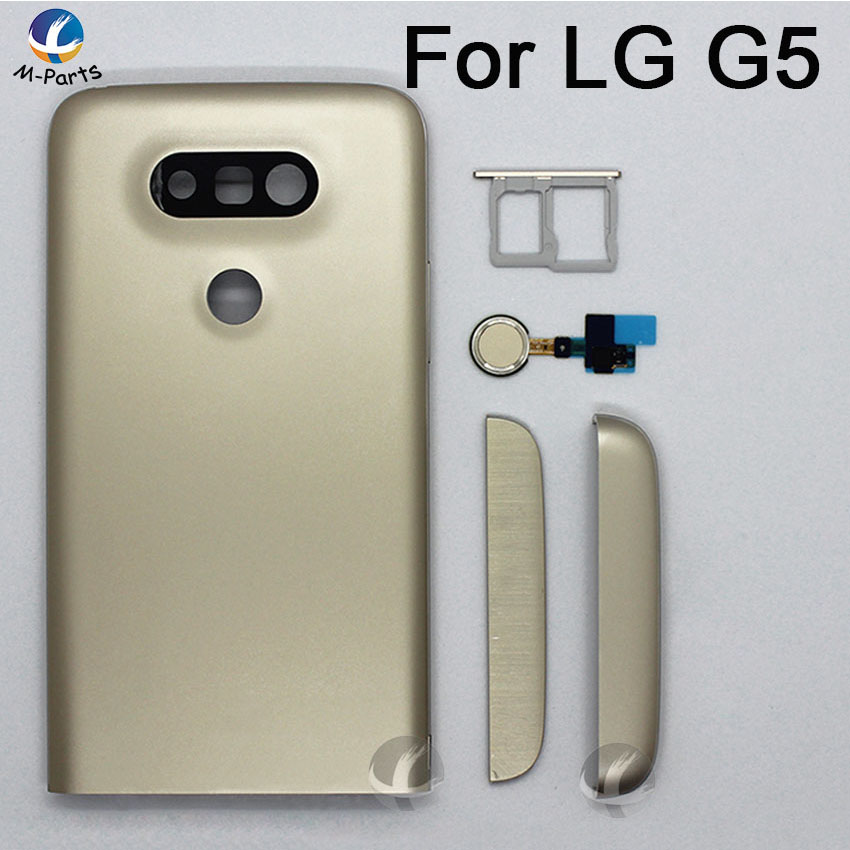 Original Back Metal Cover Housing For LG G5 F700 H850 H860N LS992 H830 Rear Battery Door Lid Shell + Sensor Flex + SIM Card Slot