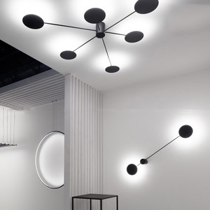 Image 3 - 북유럽 창조적 인 포스트 모던 led 벽 램프 간단한 예술 거실 조명 분위기 복도 카페 장식 조명 무료 배송