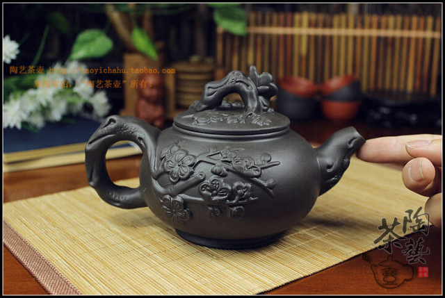 "400ml Handmade Ceramic ""Yixing"" Teapot + 3 Cups 60ml Set"