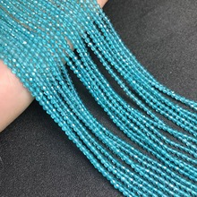 Wholesale blue  crystal faceted chamfered beads jewelry accessories Semi-finished diy bracelet