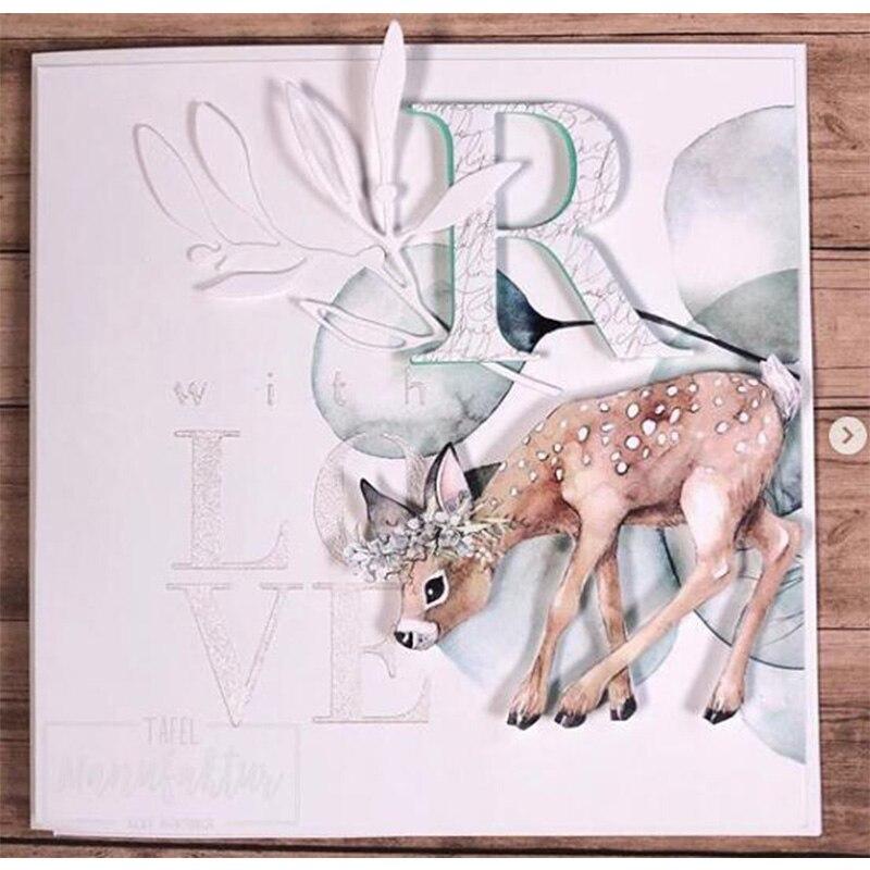 Васильковые травы эвкалиптовая ветка цветы металлические Вырубные штампы для поделок скрапбукинга бумажные открытки, декоративные поделки новые штампы
