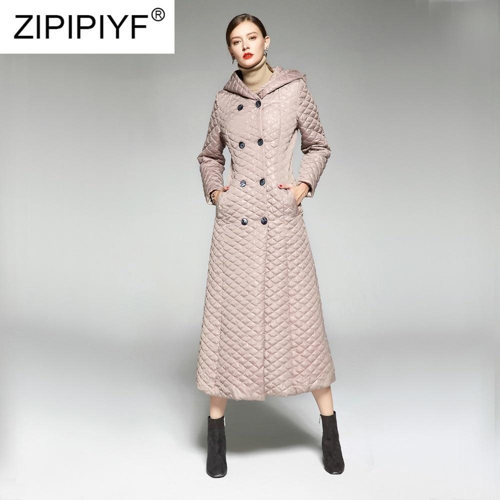 À Capuchon Manteau Double D'hiver Chaud Solide Nouveau Longue Automne Breasted Outwear Manteaux Poche Bouton Et Slim Long Sont Vente Coton Tpq8zq