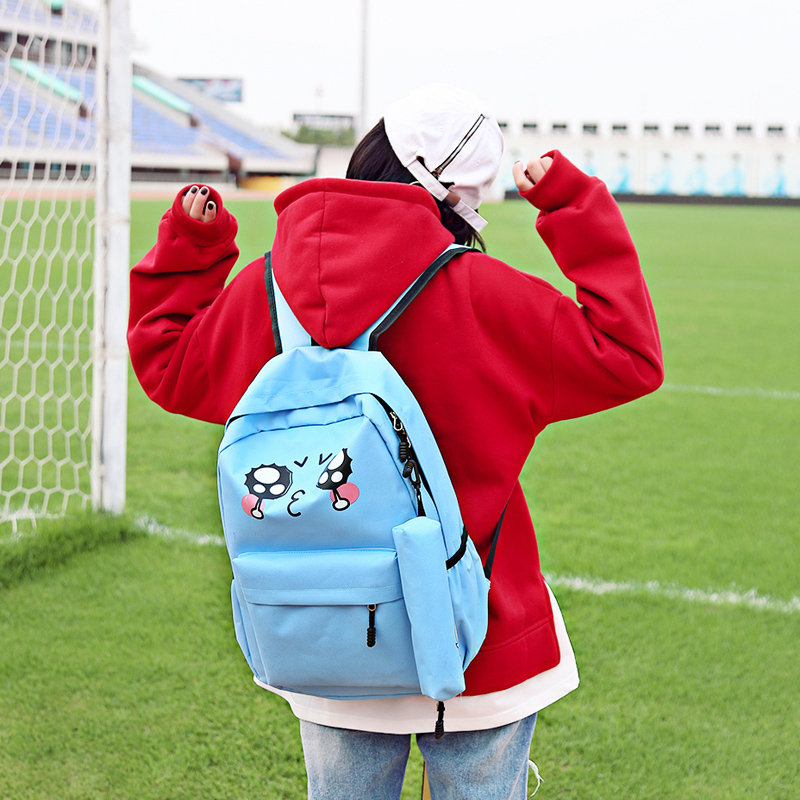Cute Cry Face School Backpacks Boy And Girl Bookbag Female Laptop luggage Travel Notebook Backbag Nylon Student Bag Set Rucksack