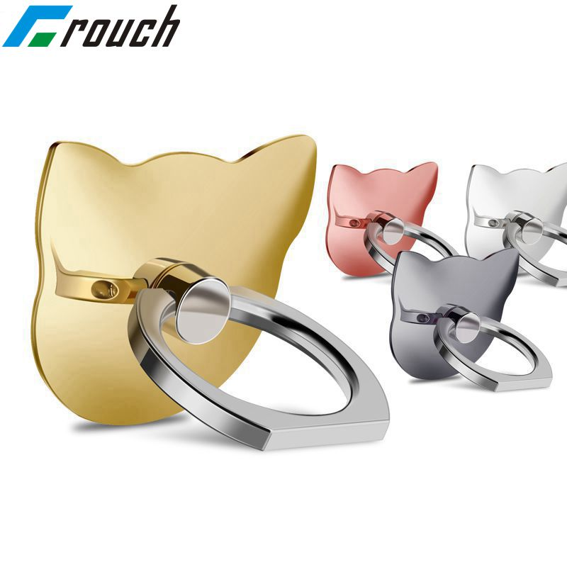 Crouch 360 Degree Finger Ring Mobile Phone Smartphone Stand Holder For IPhone IPad Xiaomi All Smart Phone Luxury Couple Models