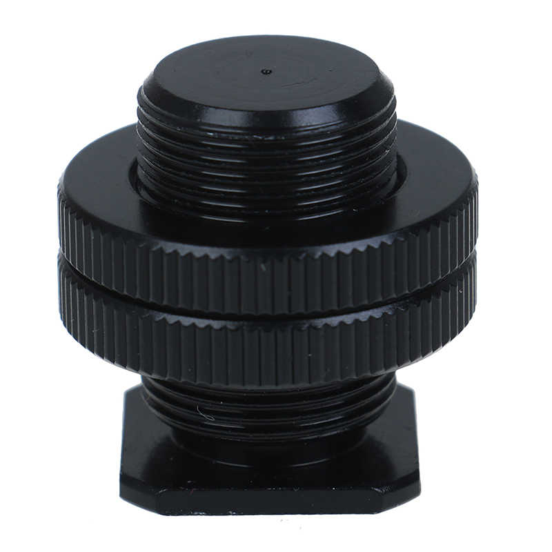 5/8 inch 1/4 inch Screw for Camera tripod head Microphone Mic Mount Bracket Metal shockproof clip Hot shoe Adapter 3cm