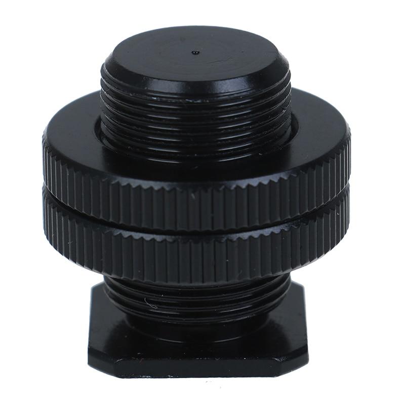5/8 Inch 1/4 Inch Screw For Camera Tripod Head Microphone Mic Mount Bracket Metal Shockproof Clip Hot Shoe Adapter 3cm
