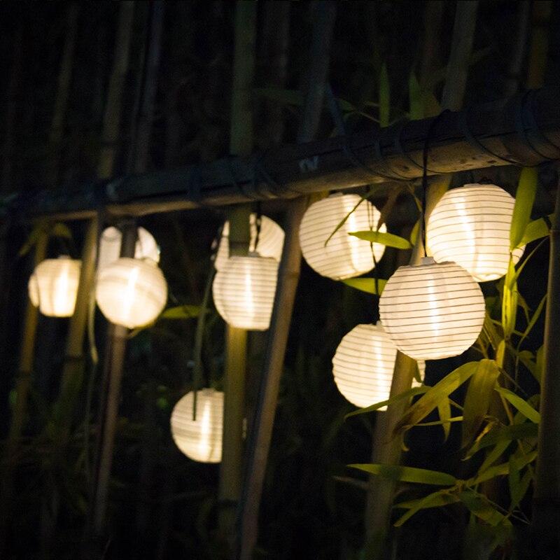 Solar String Lights Lantern Ball 10 20 LED Solar Outdoor Lighting Fairy Lights Christmas Decorative Light