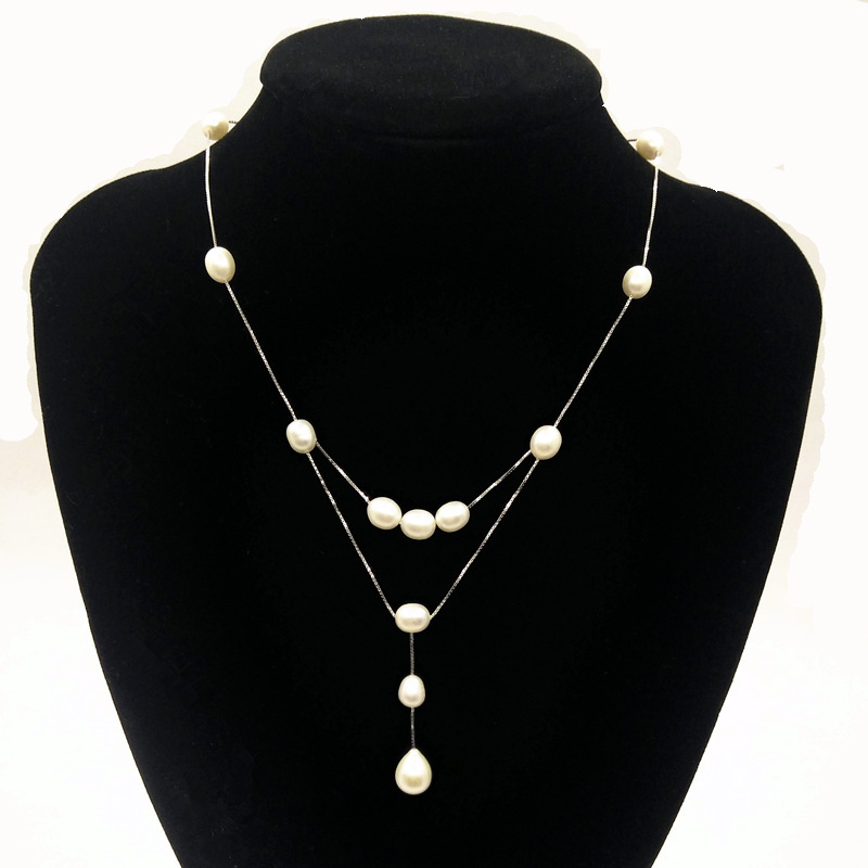 Design de moda real 925 prata esterlina natural pérola mulheres - Jóias