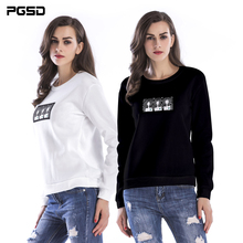 PGSD New Autumn winter Simple Fashion Women Clothes casual round-collar printed thick velvet Hoodies Sweatshirt Pullover female