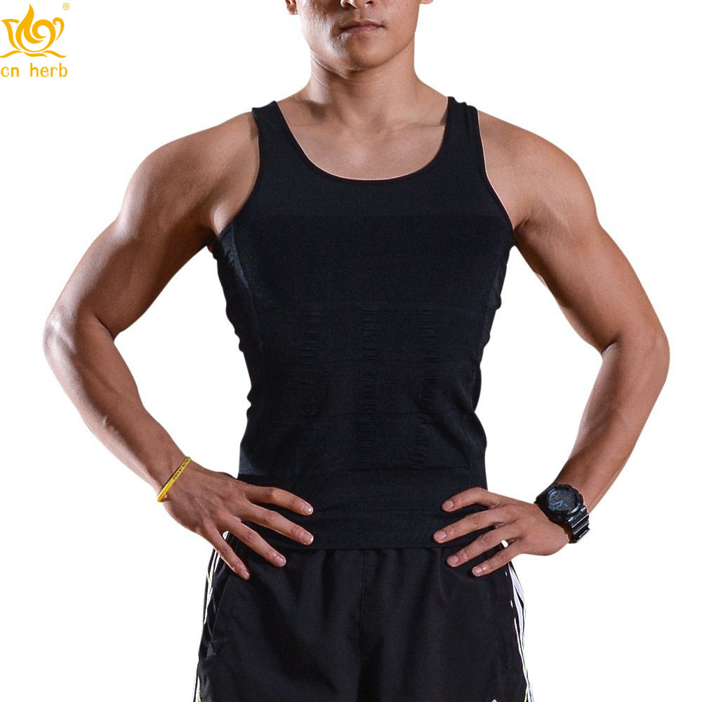 Cn Herb Men 39 s Body Shaper Slimming Shirt Tummy Waist Vest Lose Weight Shirt Men 39 s Elastic Sculpting in Slimming Product from Beauty amp Health