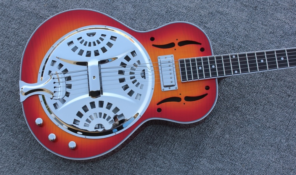free shipping can do customize logo as request Byron OEM resonator metal electric guitar