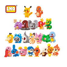 LNO Nanoblocks New Arrival 22 Items Cute Anime Pikachu Venusaur Charmander Building Brick Assembly Toy Educational Gift For Kids