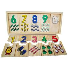 Montessori Game Childhood Teaching Logarithmic Matching Plate Calculation Digital Mathematical Educational Toys 23*9*2cm