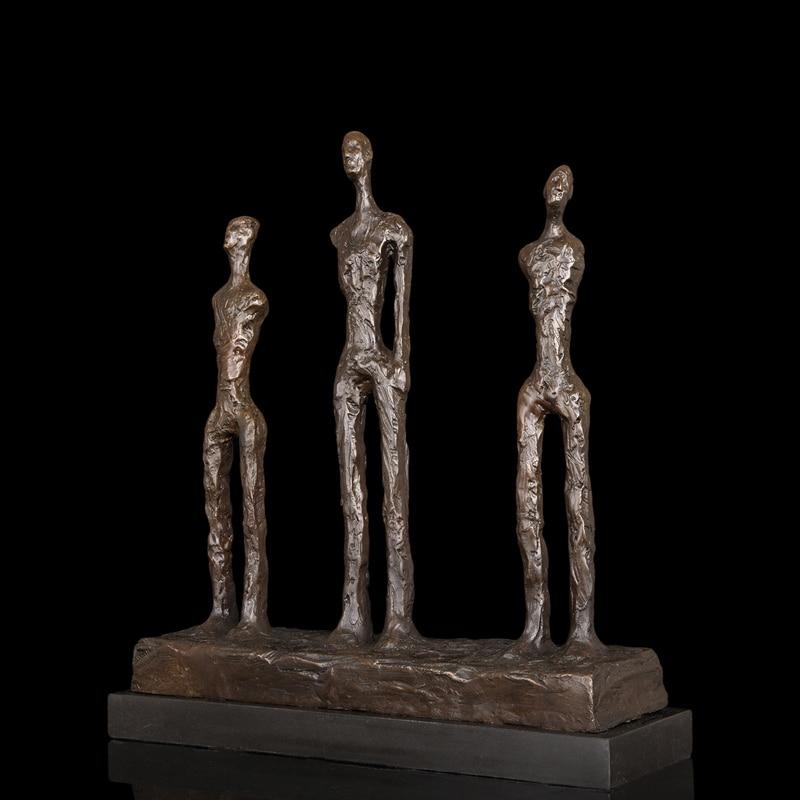 ATLIE BRONZES Nouveau art abstract figurines Outdoor Decor Bronze Crafts figurines home decoration