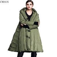 2019 зимнее пальто женские в европейском стиле женские куртки с капюшоном бренды Свободные Теплые плащи парки перо