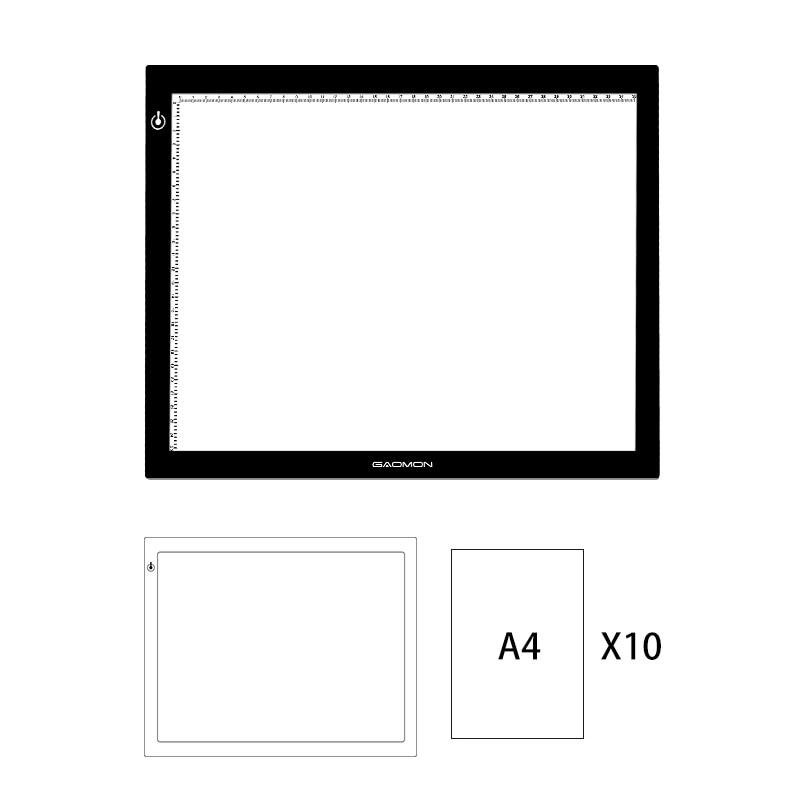 GAOMON GB4 LED Light Pad B4 Size Light Box Tracing Board for font b Drawing b